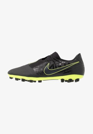 PHANTOM ACADEMY AG - Moulded stud football boots - black/volt