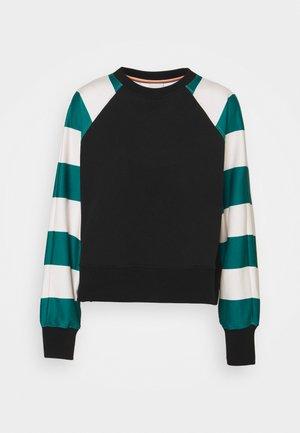 STRIPE PRINT - Sweatshirt - black