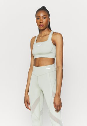 PAMELA REIF X PUMA SQUARE NECK BRA - Medium support sports bra - desert sage