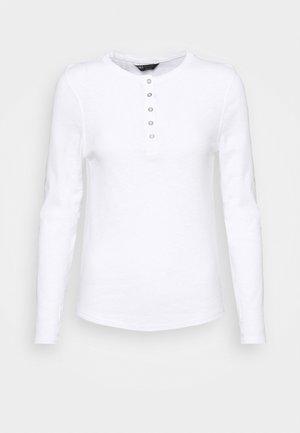 SCOOP HENLEY - Top sdlouhým rukávem - white