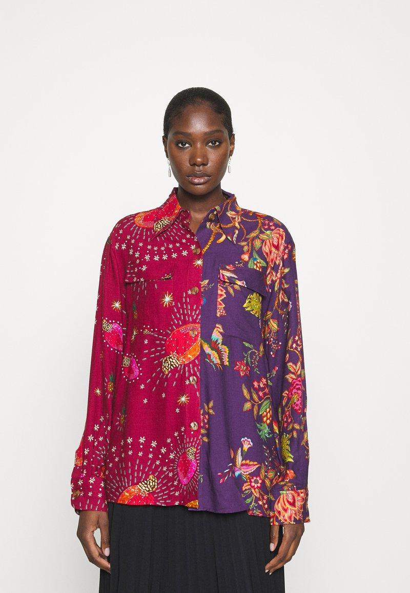 Farm Rio - COSMIC FLORAL SHIRT - Button-down blouse - multi