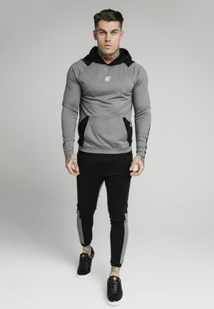 ENDURANCE OVERHEAD HOODIE - Long sleeved top - grey/black