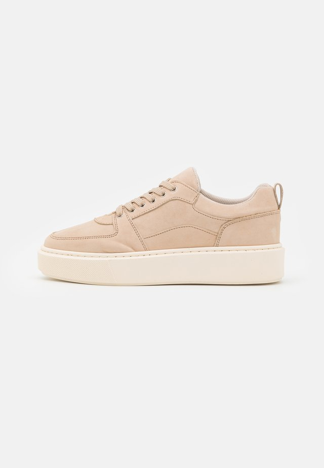 LEATHER - Trainers - taupe