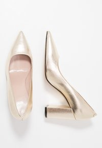 HUGO - INES CHUNKY - High heels - gold - 3