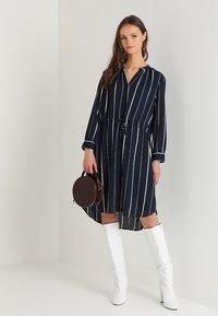 Selected Femme - SFDAMINA 7/8 DRESS  - Shirt dress - dark sapphire - 1