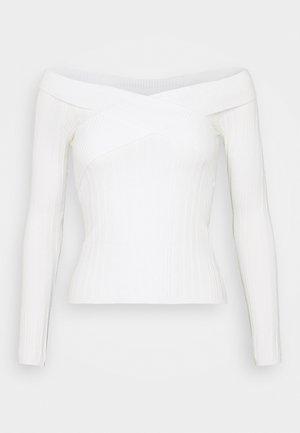WIDE BARDOT - Sweter - cream