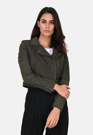 YOKO - Leather jacket - khaki