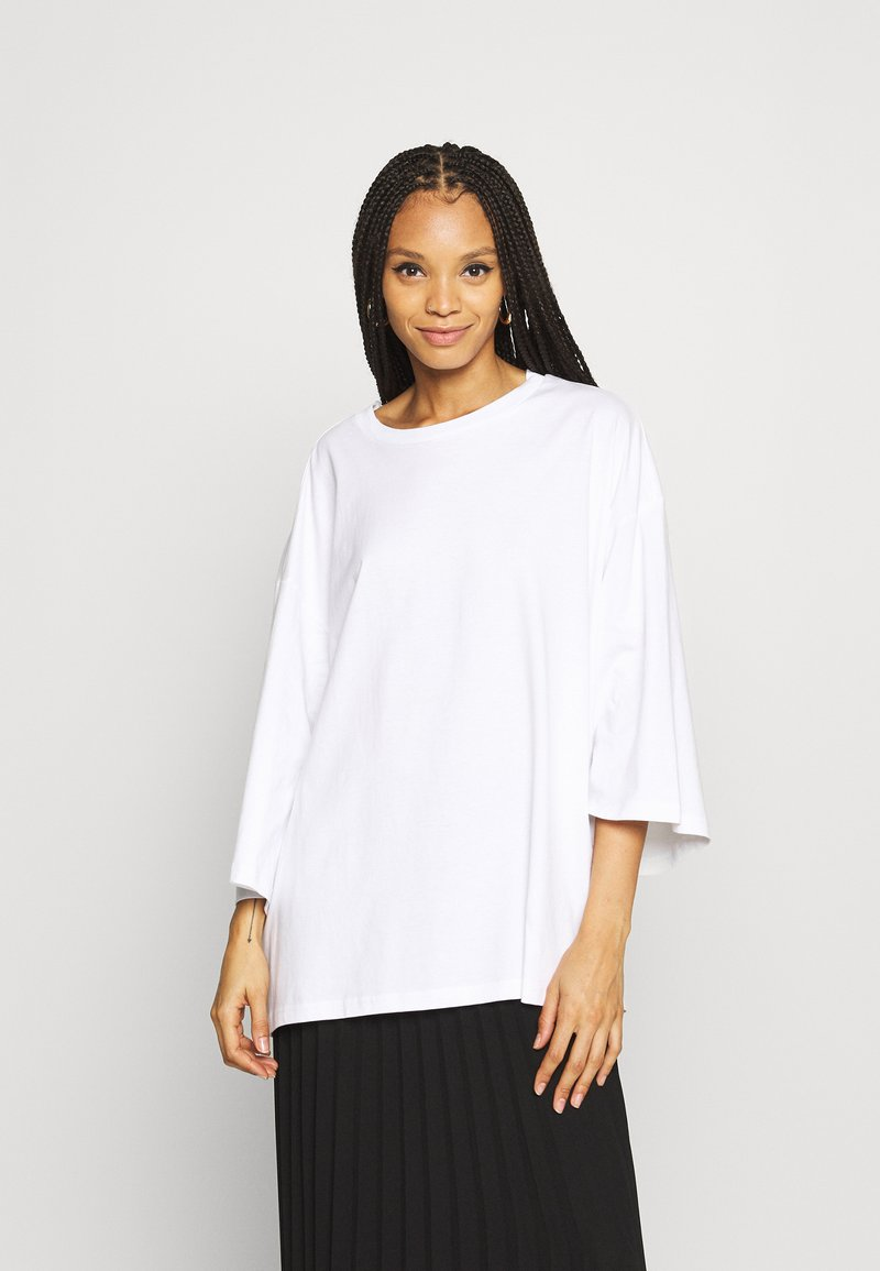 Monki - BILLIE TEE - Long sleeved top - white