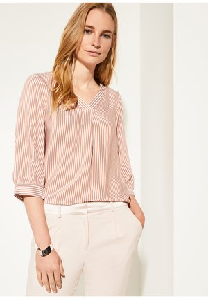 MIT MUSTER - Blouse - cognac pinstripes