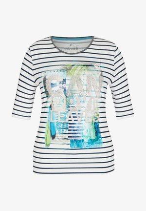 Print T-shirt - blau