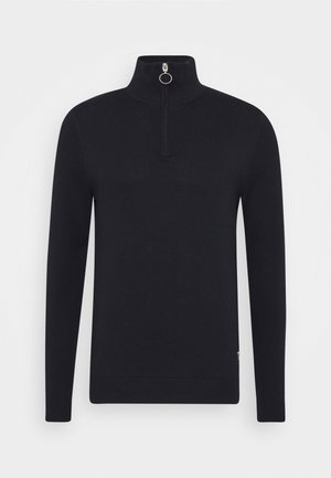 JORELI HIGH NECK ZIP - Strickpullover - dark blue