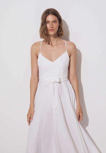 Vestito di maglina - white
