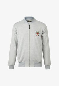 Ed Hardy - TILL DEATH BOMBER TRACKTOP - Zip-up hoodie - grey - 5