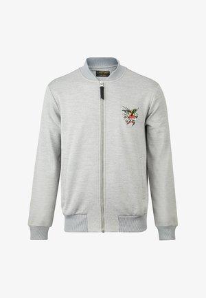 TILL DEATH BOMBER TRACKTOP - Zip-up hoodie - grey