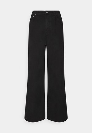 LINEAR  - Flared Jeans - washed black