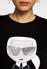 KARL LAGERFELD - IKONIK - T-Shirt print - black - 5