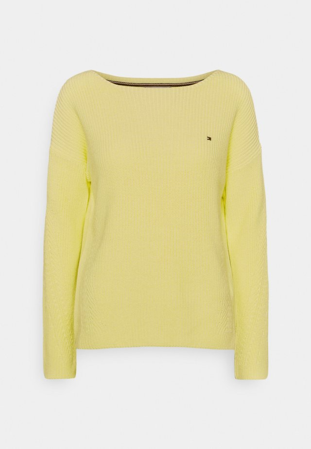 HAYANA BOATNECK - Sweter - frosted lemon