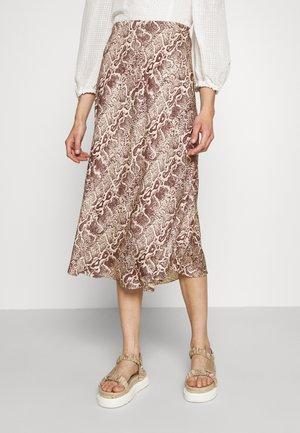 OSHIN - Áčková sukně - wood