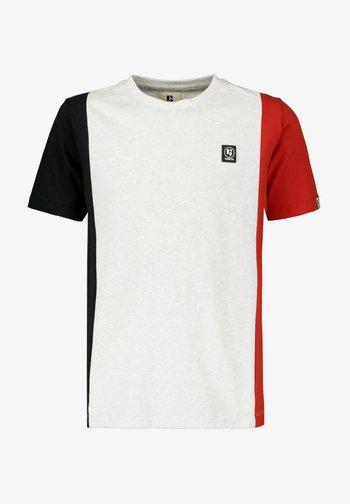 Print T-shirt - white melee