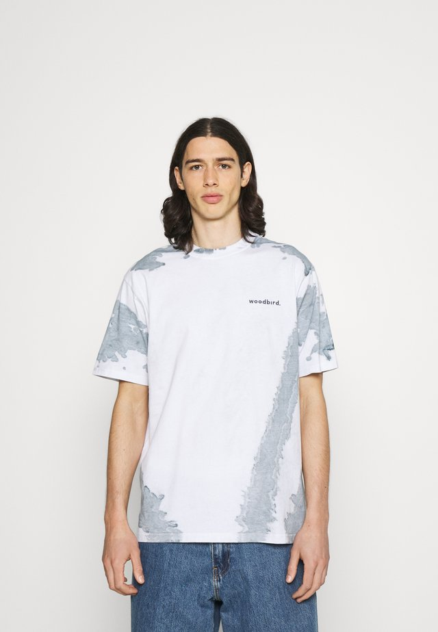 BOXY TEE - T-shirt print - white/mint