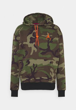 JUMPMAN AIR CAMO - Bluza z kapturem - medium olive