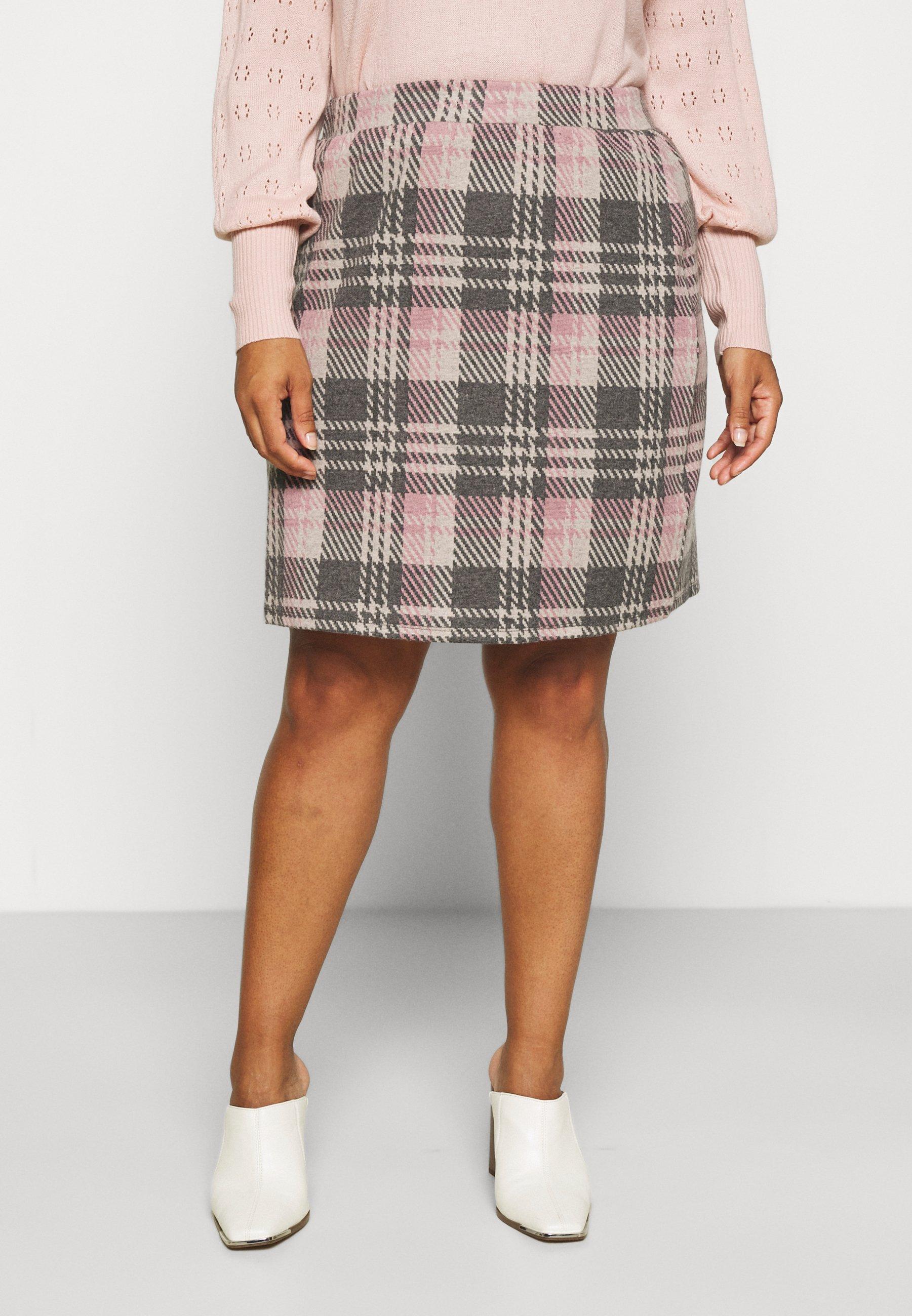 Women ALINE CHECK MINI SKIRT - Mini skirt