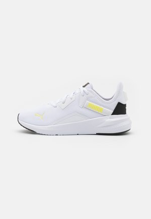 PLATINUM - Sports shoes - white/soft fluo yellow