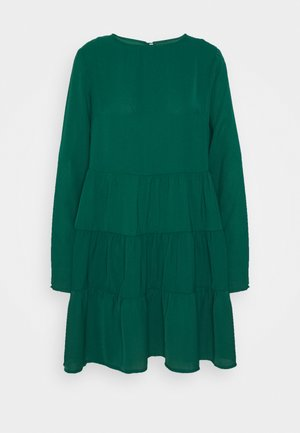 TIERED SMOCK DRESS - Denní šaty - dark green