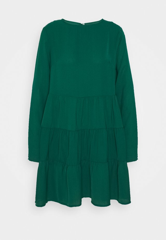TIERED SMOCK DRESS - Vestito estivo - dark green