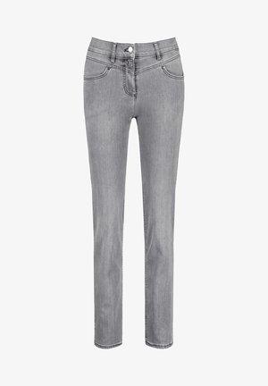 Slim fit jeans - grau mit use