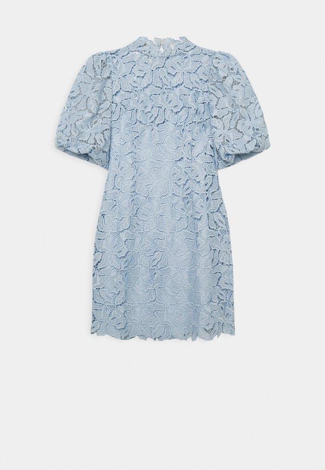 PUFF SLEEVE MINI DRESS 2-IN-1 - Vapaa-ajan mekko - blue