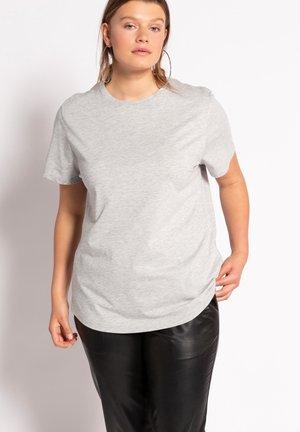 Basic T-shirt - gris clair chiné
