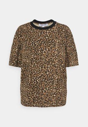 ROUND NECK  - Print T-shirt - brown