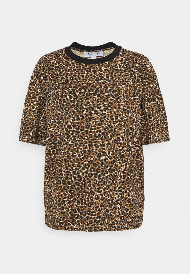 ROUND NECK  - T-shirt print - brown