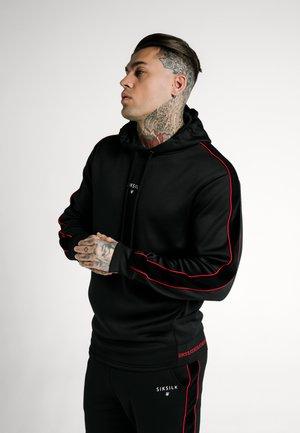 IMPERIAL QUARTER ZIP HOODIE - Jersey con capucha - black