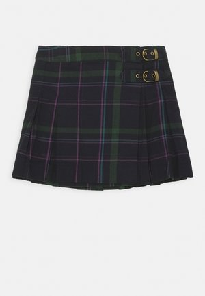 PLAID KILT BOTTOMS SKIRT - Pleated skirt - navy