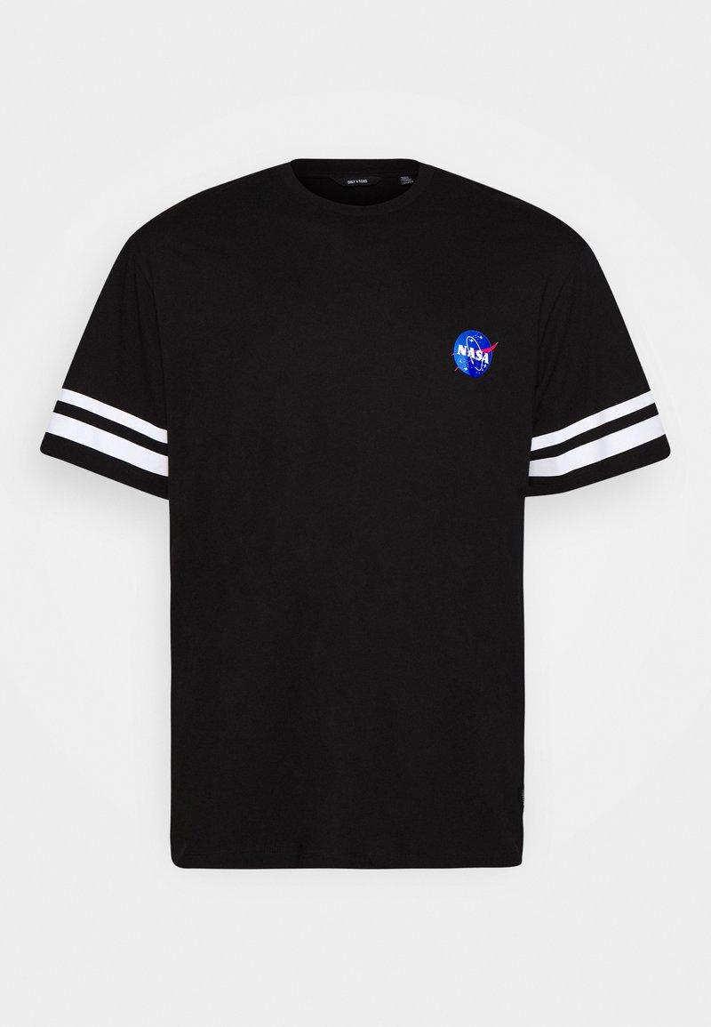 Only & Sons - ONSNASA STRIPE TEE PLUS - Print T-shirt - black