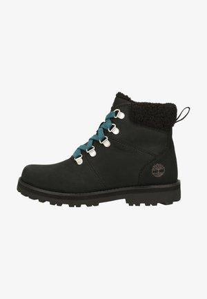 Platform ankle boots - jet black