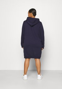 Even&Odd Curvy - OVERSIZED HOODIE DRESS - Day dress - dark blue - 2