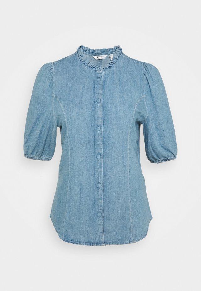 JANCY  - Hemdbluse - light-blue denim
