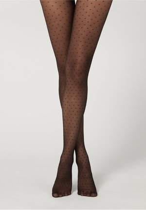 MIT PUNKTEMUSTER - Tights - nero