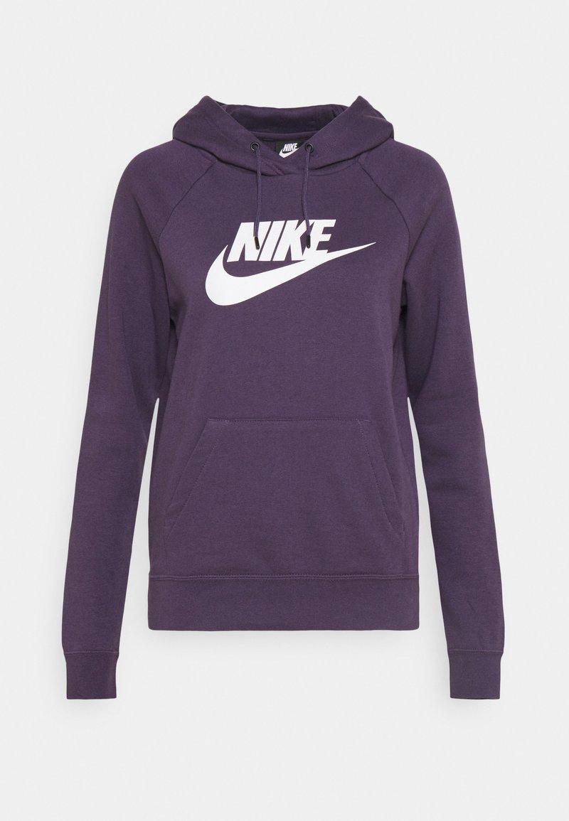 Nike Sportswear - HOODIE - Hoodie - dark raisin/white