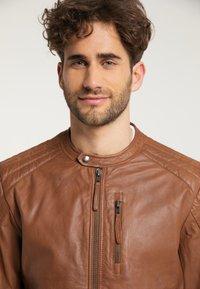 Mustang - Leather jacket - braun - 4