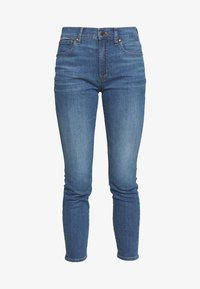 J.CREW - HIGH RISE TOOTHPICK - Skinny džíny - steel blue wash - 6