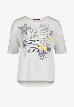 MIT PLACEMENT - Print T-shirt - cream/yellow