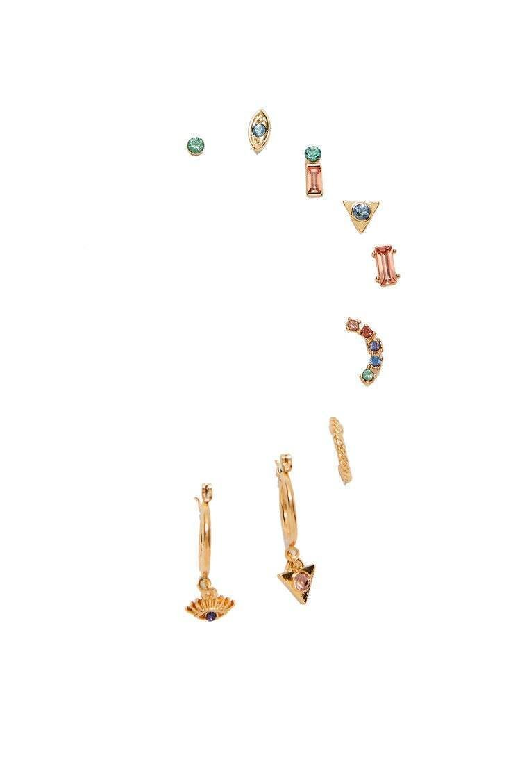 Stradivarius - SET MIT 9 OHRRINGEN 00002005 - Ohrringe - gold