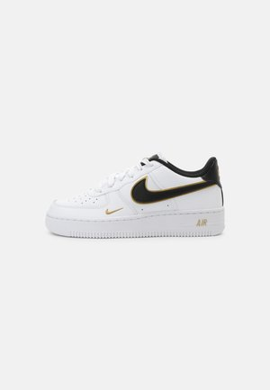 AIR FORCE 1 UNISEX - Sneakers basse - white/black/gold/white