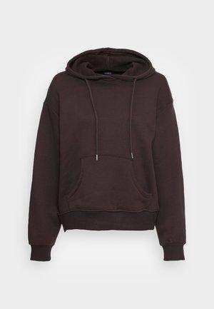 LOLA HOOD - Sweatshirt - dark brown