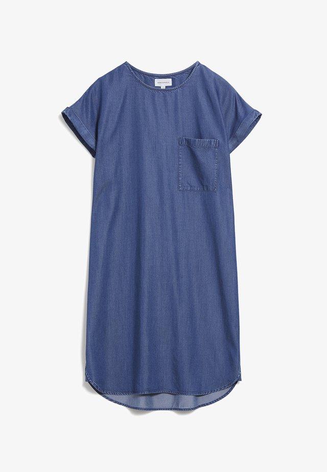 GITAA - Denim dress - basic denim blue
