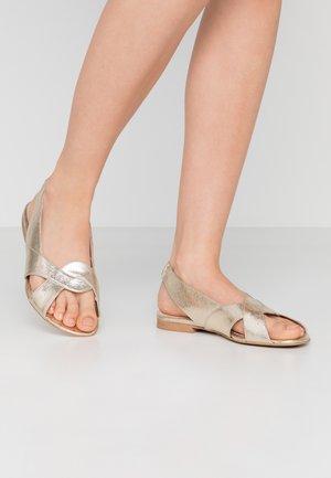 SEA HORSE - Sandals - gold